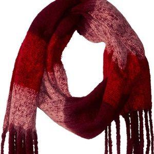 Steve Madden knit winter scarf & faux fur earmuffs